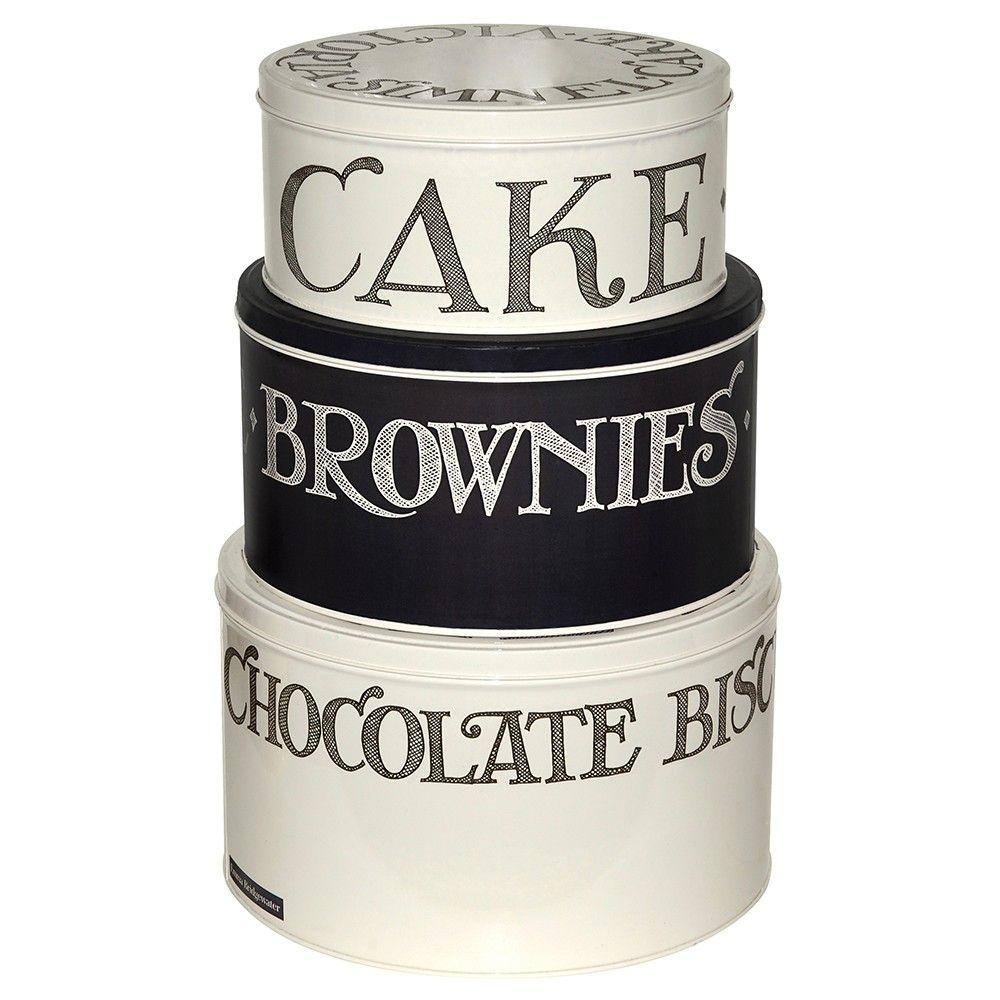 emma bridgewater black toast hatched set 3 cake storage. Black Bedroom Furniture Sets. Home Design Ideas