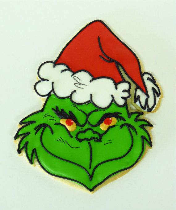 Giant Grinch Sugar Cookie By Cakenouveau On Etsy 14 00 Shop