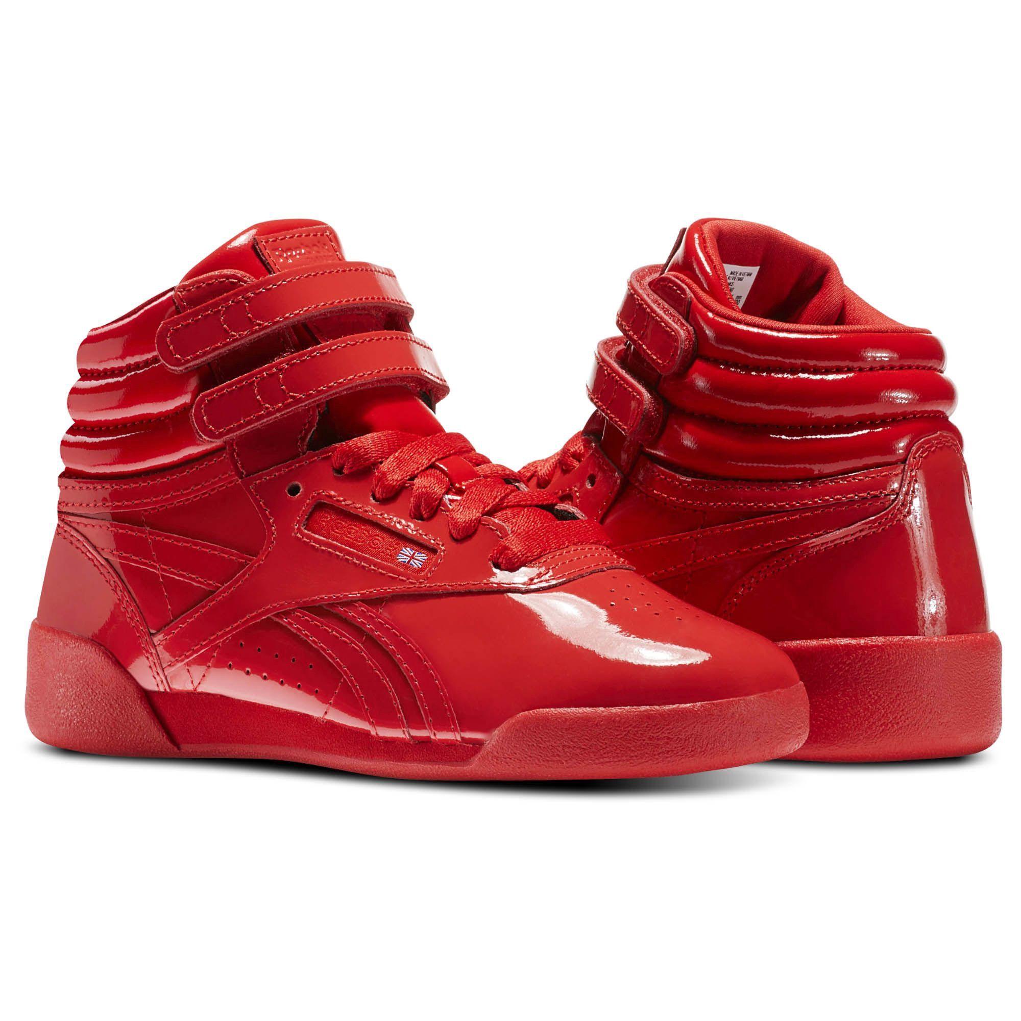 b68fb47c300 Reebok Freestyle Hi Patent Leather - Pre-School Red 3