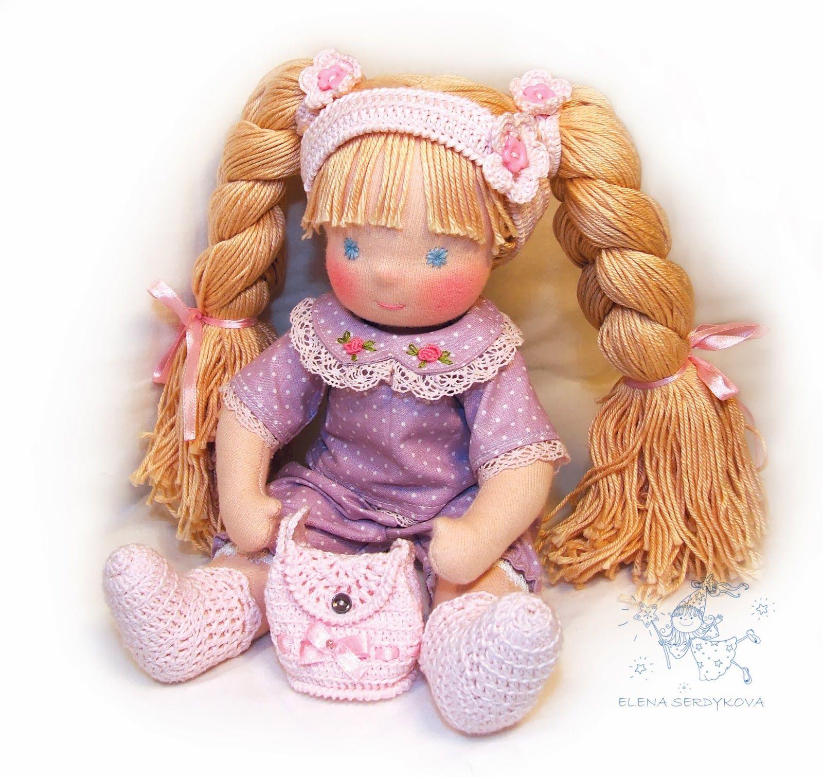 жили - были куклы: выкройка шарнирной куклы Дуняши с одеждой (по ...