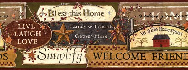 Wall Borders Papers Kruenper Creek Country Gifts Dining Room