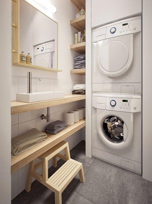 Zonas de lavado y planchado en aseos cuartos de ba o - Cuarto de lavado y planchado ...