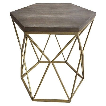 Intl Target Com P Chester End Table Gold Metal