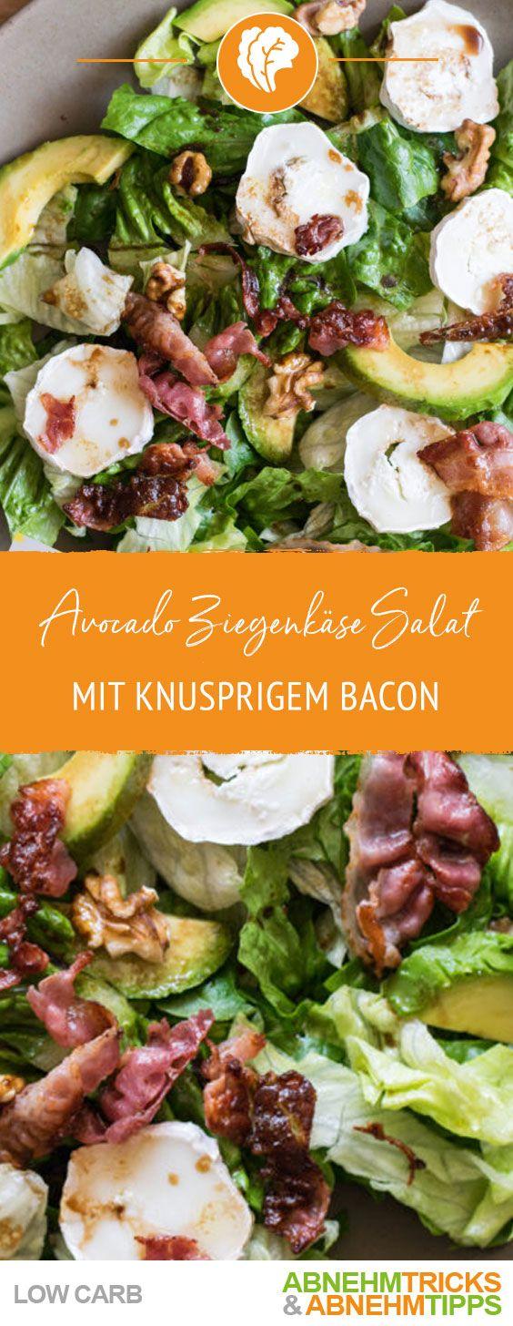 Photo of Low Carb Avocado-Ziegenkäse Salat mit knusprigem Bacon