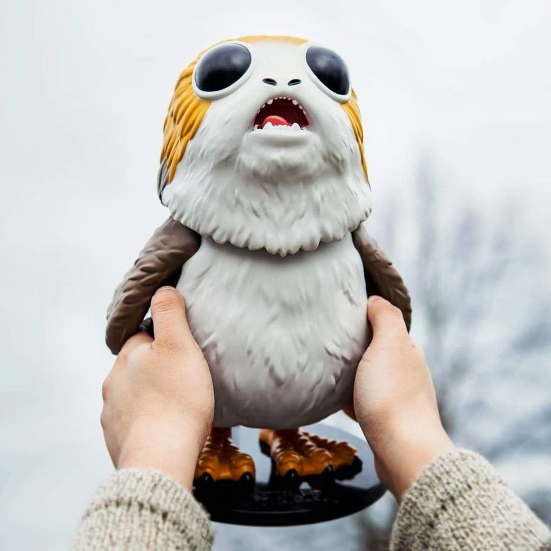 Extra Excited Over This 10 Inch Porg I Can T Wait To Get One Who Else Is Excited Over This Space Chicken Teamporg Star Wars Action Figures Funko Pop Vinyl