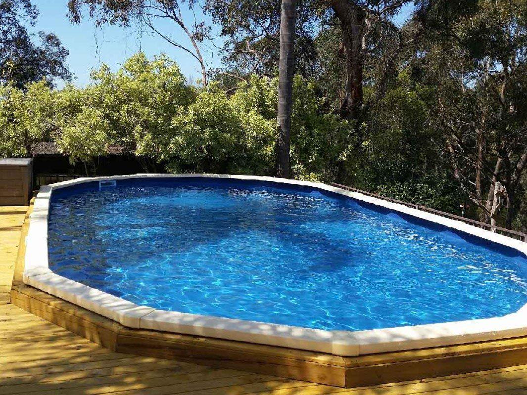 Semi Inground Pool Reviews In Ground Pools Inground Pools Diy Swimming Pool