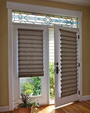 Blinds For The Front Door It S Neutral And Adds A Bit Of Texture It Will Also Help With Blinds For French Doors Patio Door Coverings French Door Coverings
