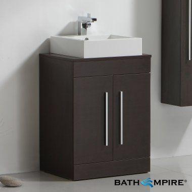 Lassen wenge 600mm counter top basin door unit floor for Bathroom cabinets 600mm