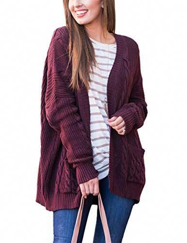 9f5af450a3 Beautiful AMAURAS S-5XL Women Cable Knit Open Front Loose Sweater Cardigan  Casual Coat Outerwear online. [$34.99] weloveoffer from top store # ...