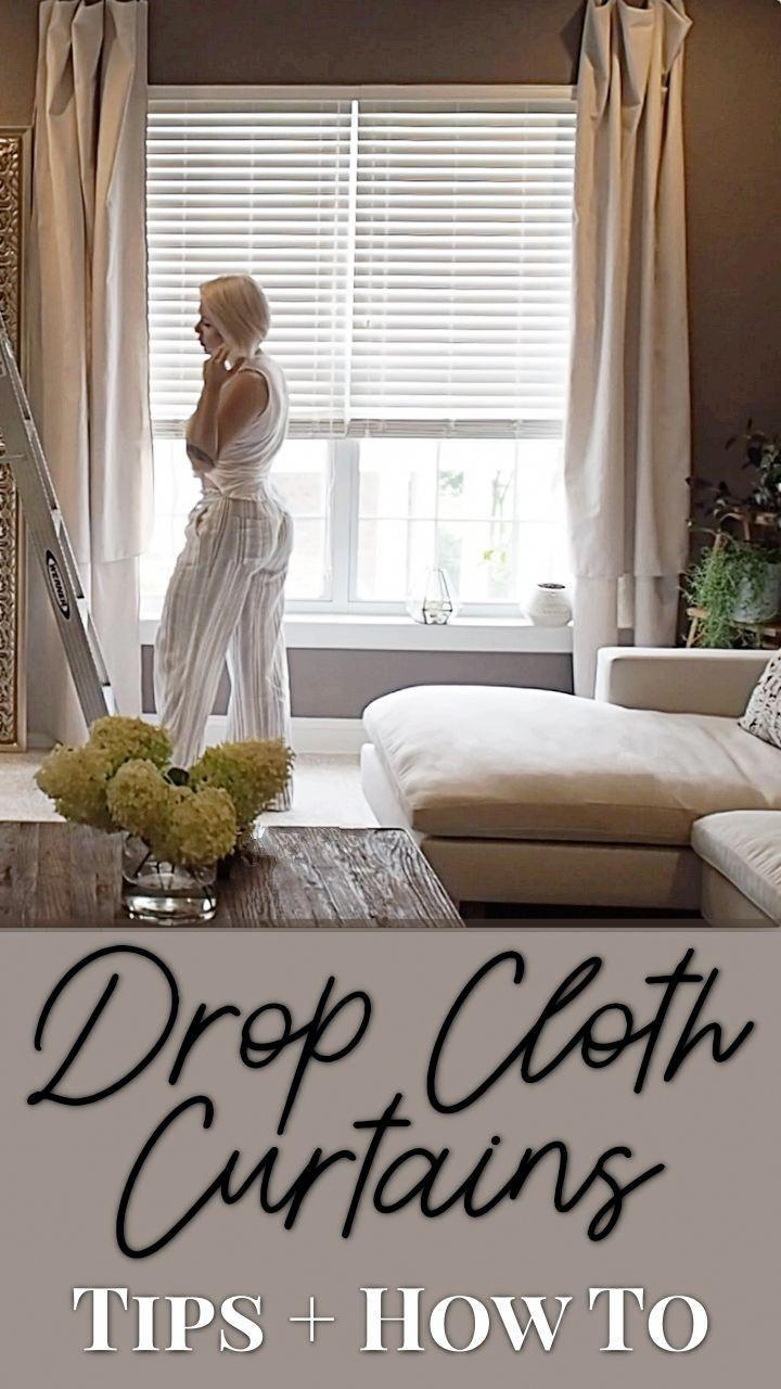 diy drop cloth curtains livingroomdecorcurtains  living