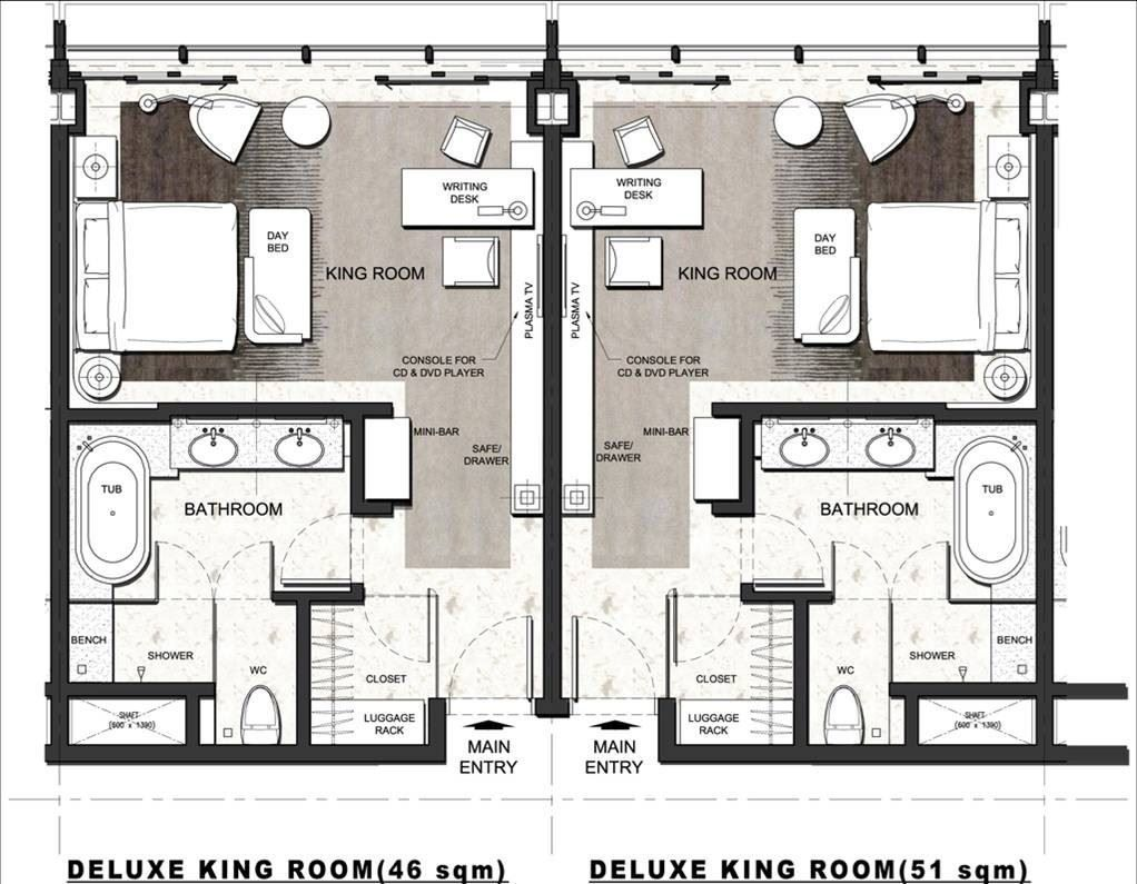 Hotel Bathroom Floor Plans - Four seasons hotel pudong picture gallery