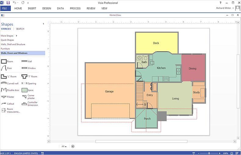 Visio Floor Plan Templates Floor Plans Office Floor Plan How To Plan