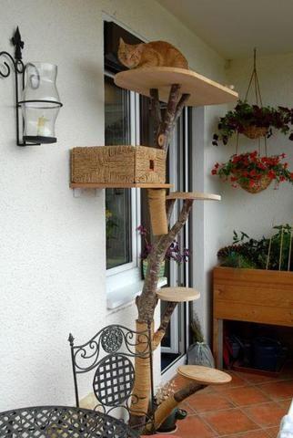 katzenbaum bauen kratzbaum. Black Bedroom Furniture Sets. Home Design Ideas
