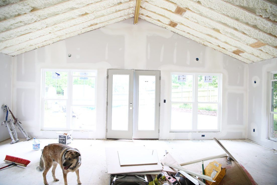 the addition insulation and drywall! The Handmade Home