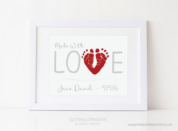Love art print valentines day gift for dad by pitterpatterprint love art print valentines day gift for dad personalized baby negle Gallery