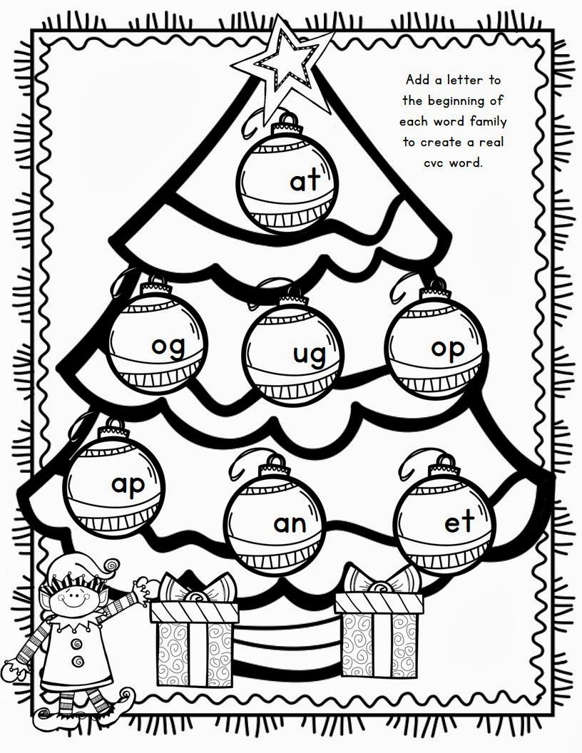 first grade christmas math coloring page Mrs. McGinnis