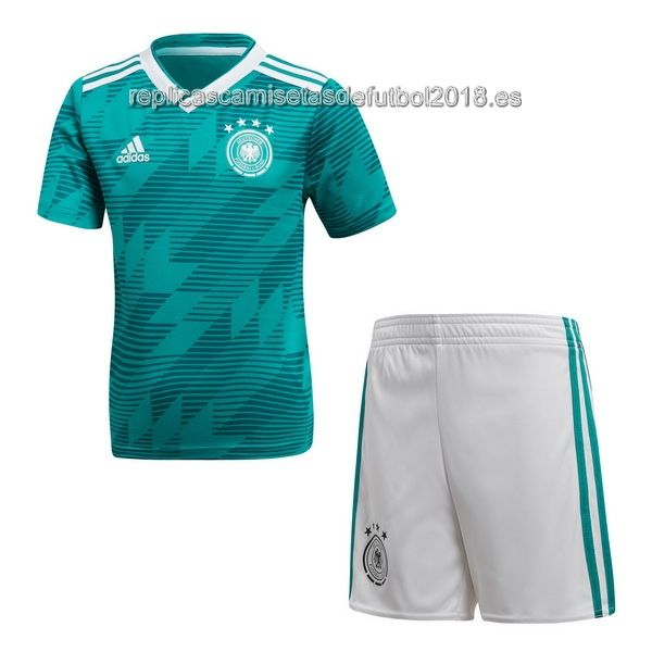 Segunda Niños Replicas Camiseta Conjunto Completo Alemania 2018 ... 49f241660b439