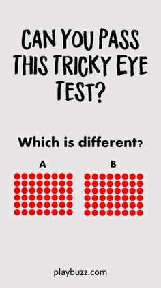 Can You Pass This Tricky Eye Test? | Quizzes | Eye test quiz