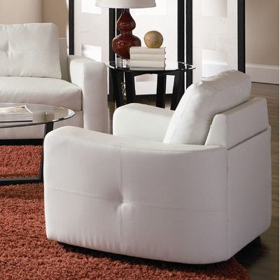 Coaster Jasmine Leather Chair, White The Jasmine Chair Offers Smart  Styling, Wrapped In Super Soft Bonded Leather In Vibrant White.