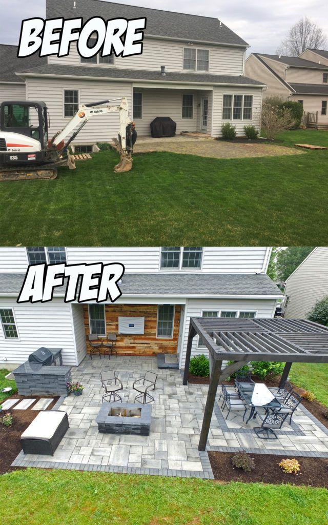 Outdoor Living Patio Area (Before & After #backyardremodel