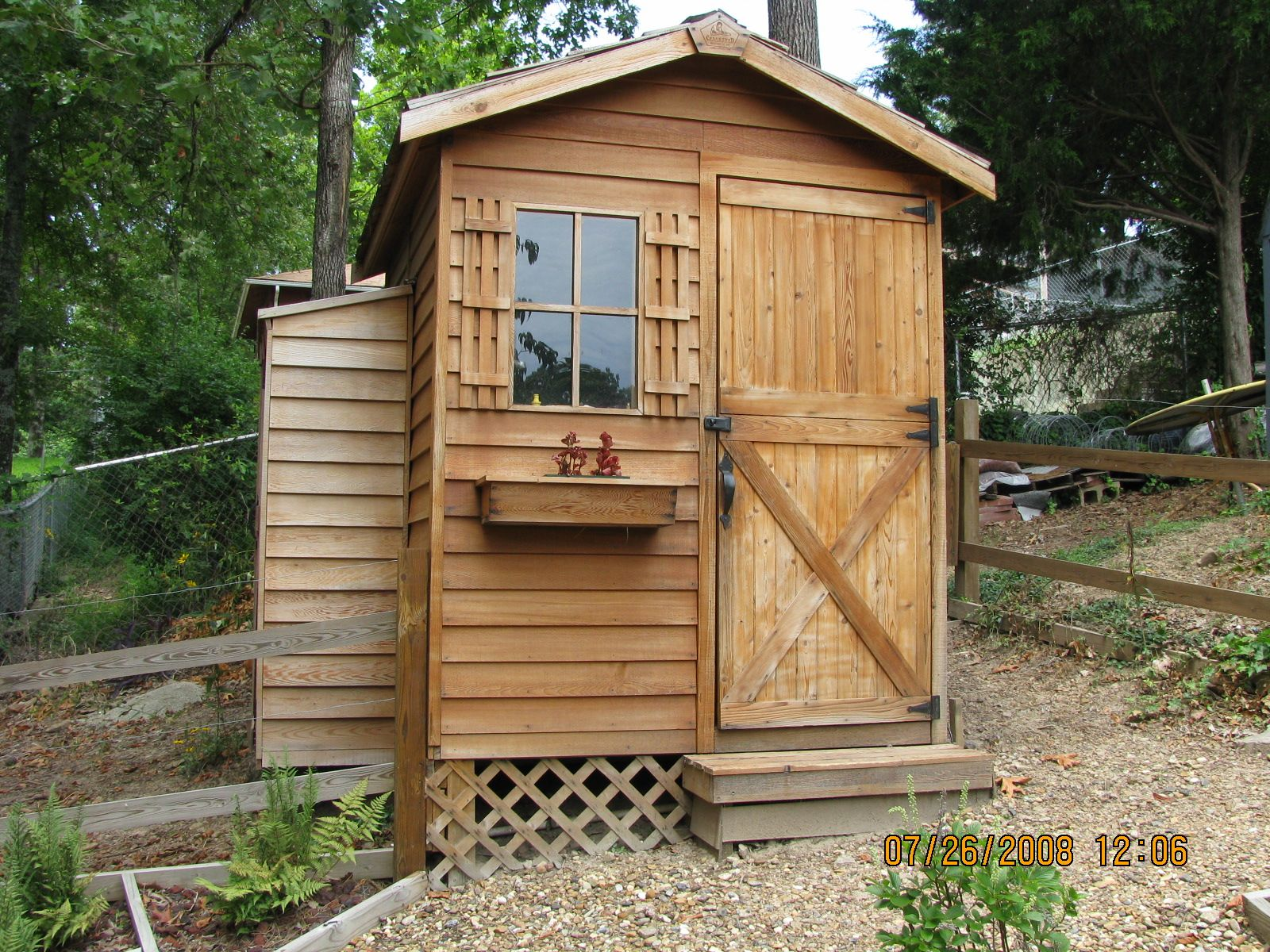 The Gardener Shed is a natural addition to this yard in ...