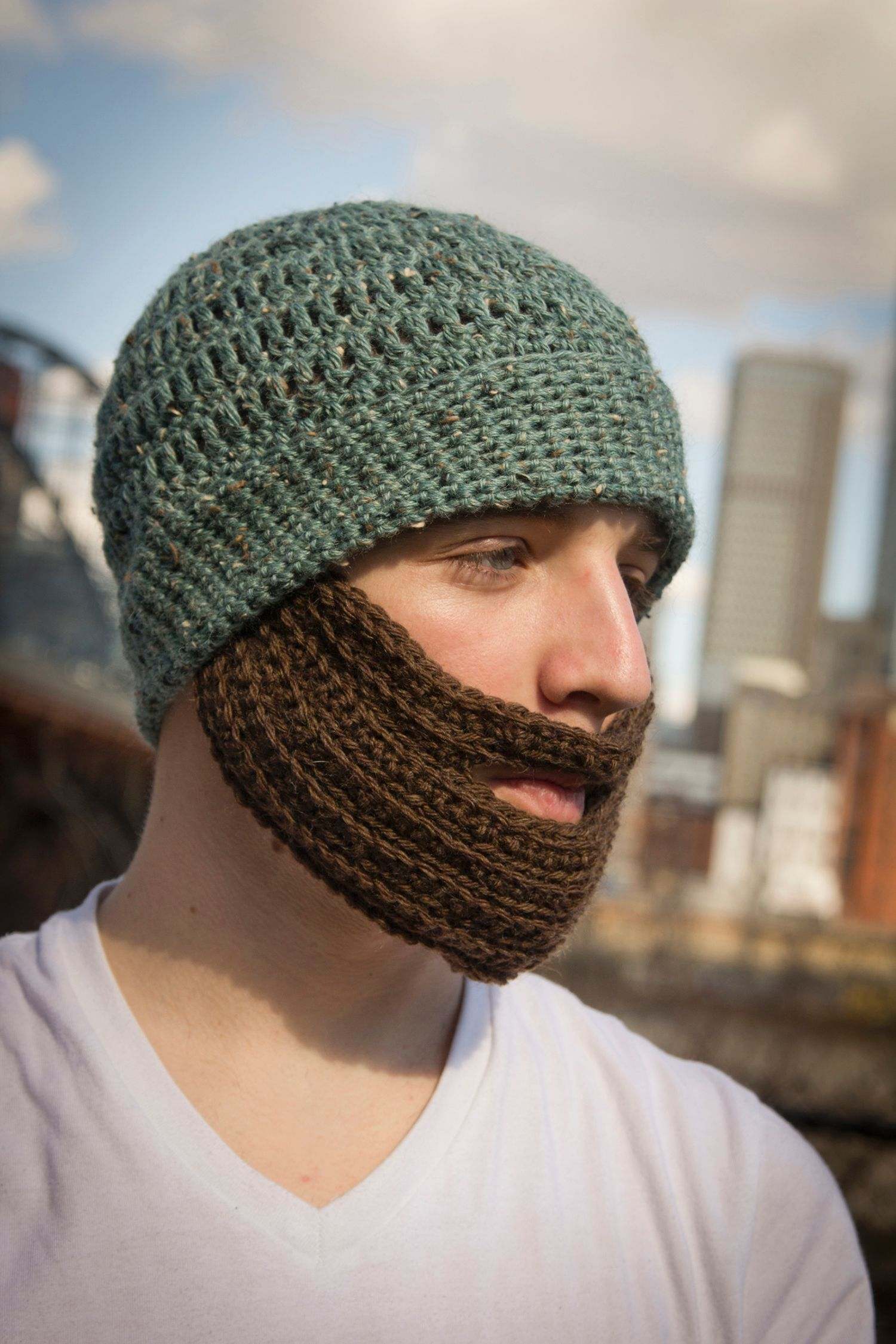 Crochet Bearded Hat - Knitting Patterns and Crochet ...