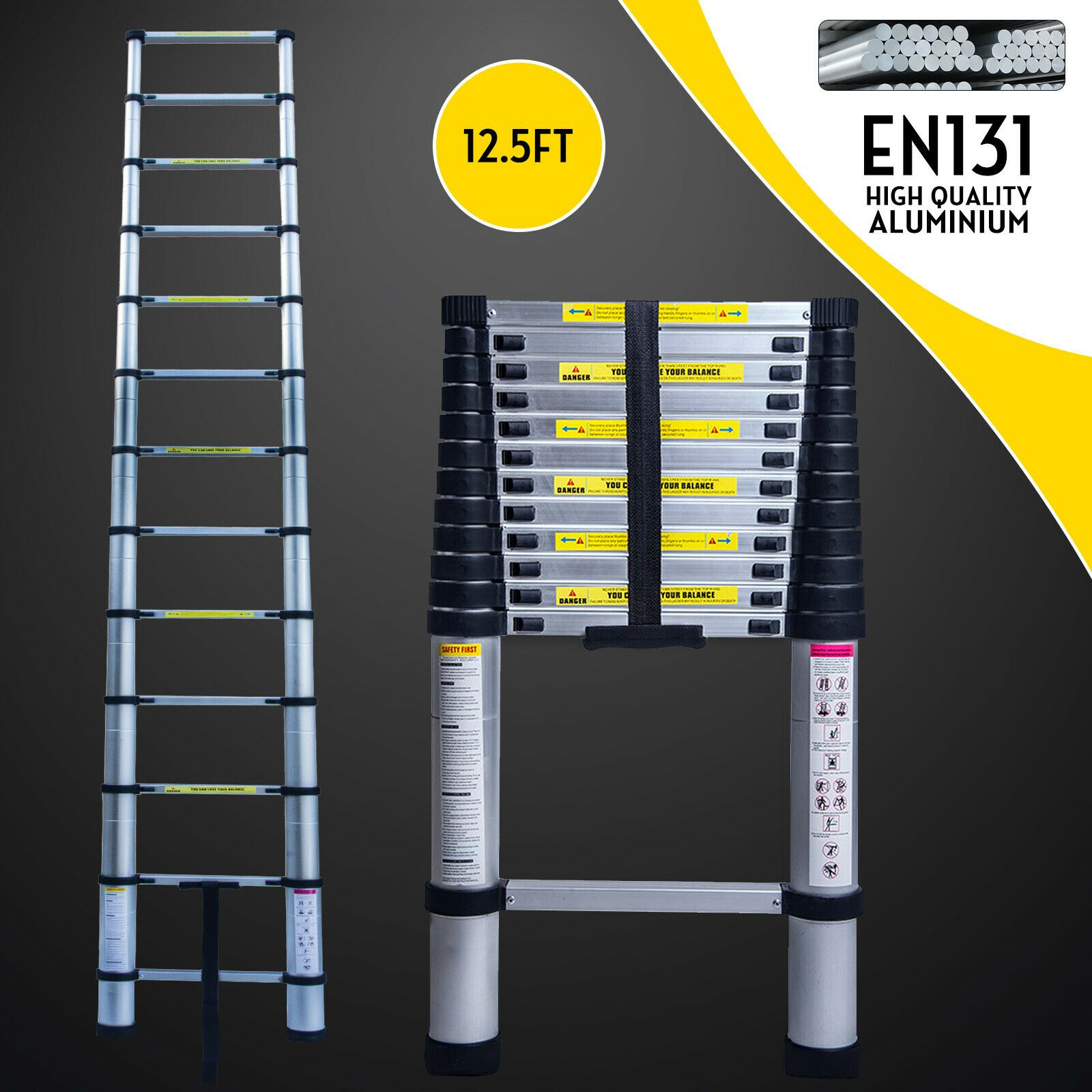 Aluminum Extension Ladder With Images Telescopic Ladder Aluminum Extension Ladder