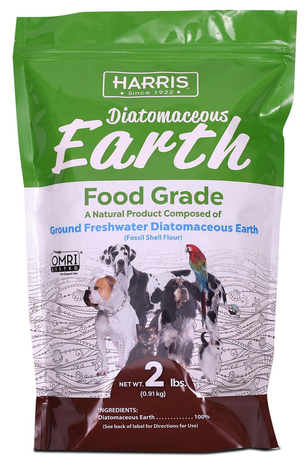 Harris Food Grade Diatomaceous Earth For Pets Health Supplement
