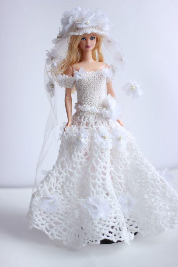 Hochzeitskleid Barbie Barbie Brautkleid und von Fashione4Doll | Tıg ...
