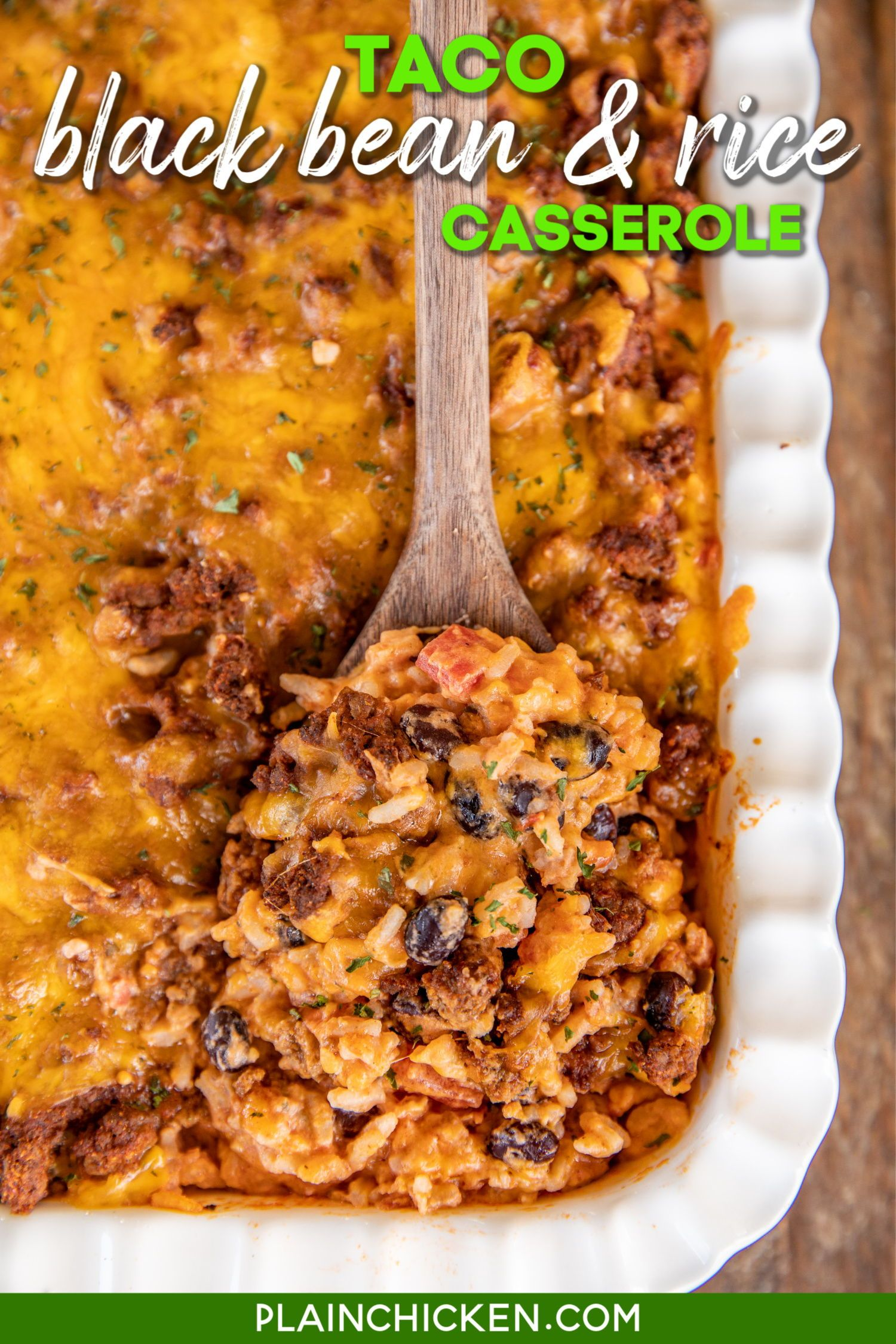 Taco Black Bean And Rice Casserole In 2020 Easy Mexican Casserole Recipes Rice Casserole