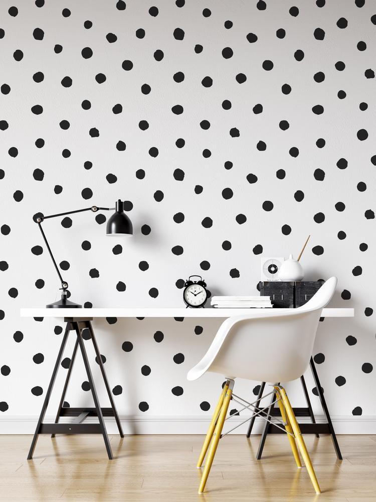 Circle Polka Dots Pattern Peel And Stick Wallpaper Removable Wall Mural 6206 Polka Dot Wall Decals Removable Wall Murals Wall Decals