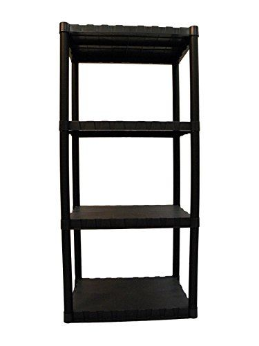 Keter Freestanding Plastic Shelving Unit Storage Rack  sc 1 st  Pinterest & Keter Freestanding Plastic Shelving Unit Storage Rack | Plastic ...