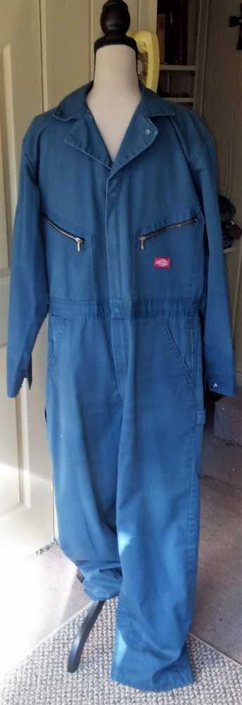 Dickies Vtg Mens Coveralls Jumpsuit One Pcsz 44 Tallnavy Blue