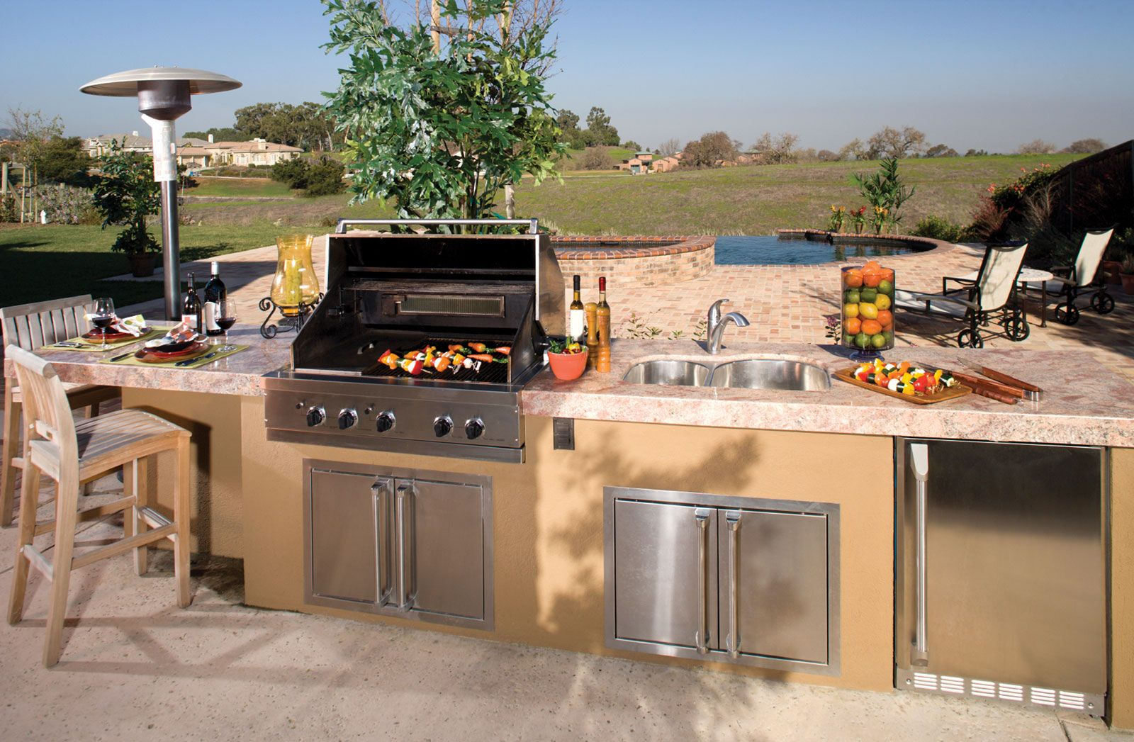 Outdoor Kitchen Design For Make An Amazing Backyard  Httpwww Glamorous Outside Kitchens Designs Decorating Inspiration
