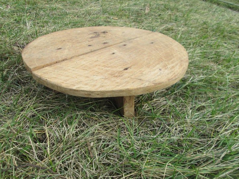 Antique Table Wooden Table Small Wooden Table Primitive Coffee