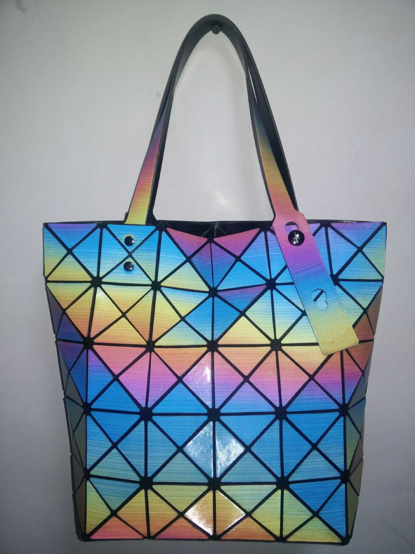 Hot Fashion Brand Women's Same As Baobao BAG Colorful Ladies' Bao Bao Rainbow Lattice Geometric Rainbow Handbag  Tote Bag #Happy4Sales #backpack #bag #handbags #highschool #L09582 #shoulderbags #YLEY