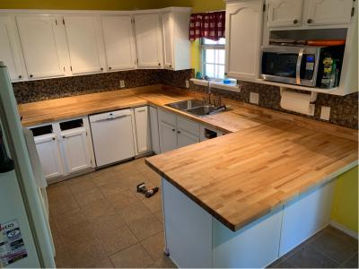 The Baltic Butcher Block 8 Ft Natural Straight Butcher Block Birch Kitchen Countertop Lowes Com In 2020 Kitchen Countertops Kitchen Remodel Design Kitchen Remodel