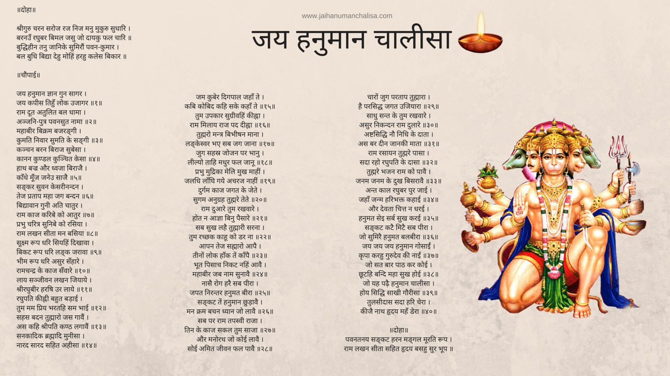 free download full hanuman chalisa hindi in wallpaper format to