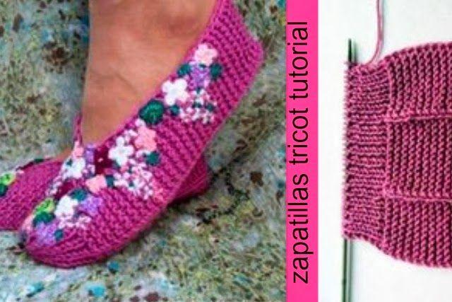 Zapatillas Tricot Tutorial paso a paso - Patrones Crochet | Tricot ...