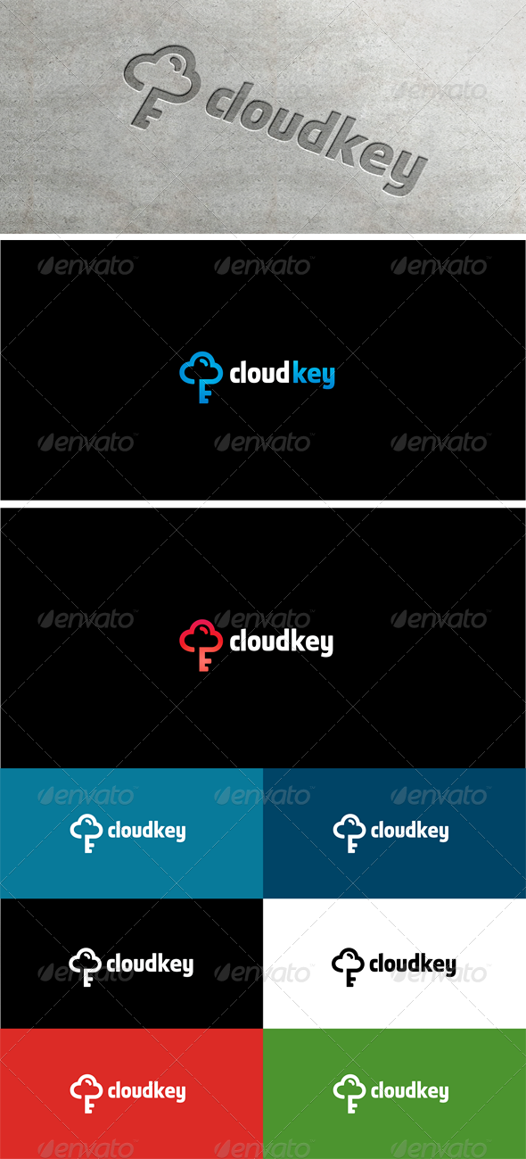 Cloud IT Key Lock #graphicriver