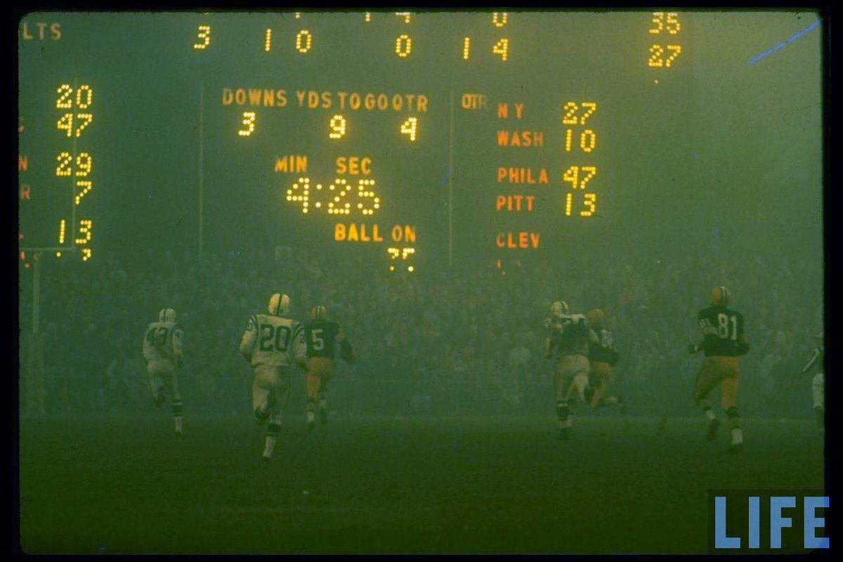 Green Bay Packers vs Baltimore Colts, Memorial Stadium, 1965