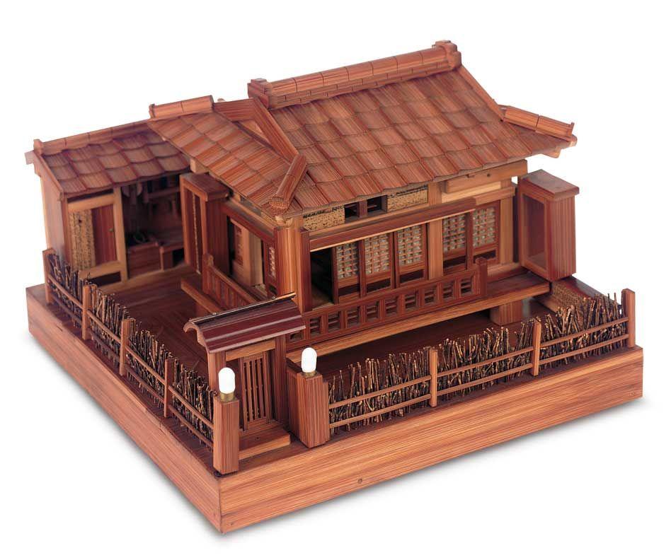 a fine pretending tea 248 japanese wooden model of classical