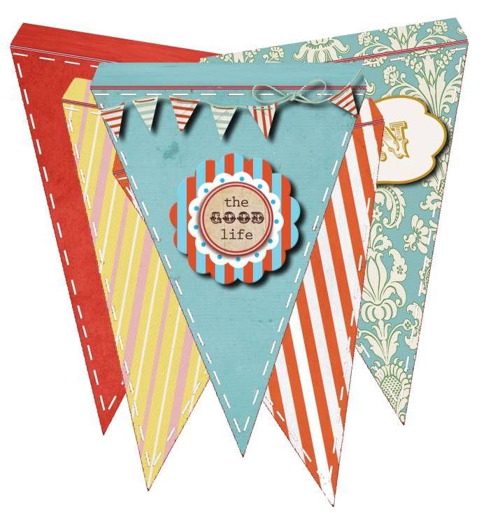 Free Cheery Pennant Banner Flag Printable PRINTABLES, FREEBIES - pennant banner template