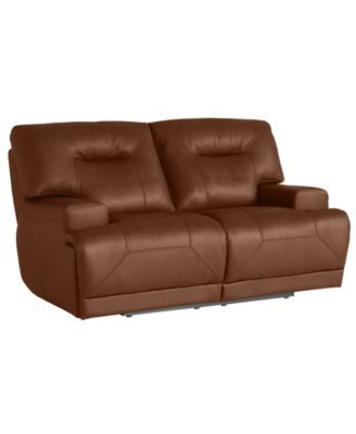 Ricardo Leather Power Reclining Loveseat Macys Com