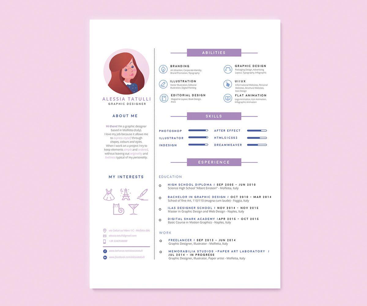 Self promotion resume design Resume design creative