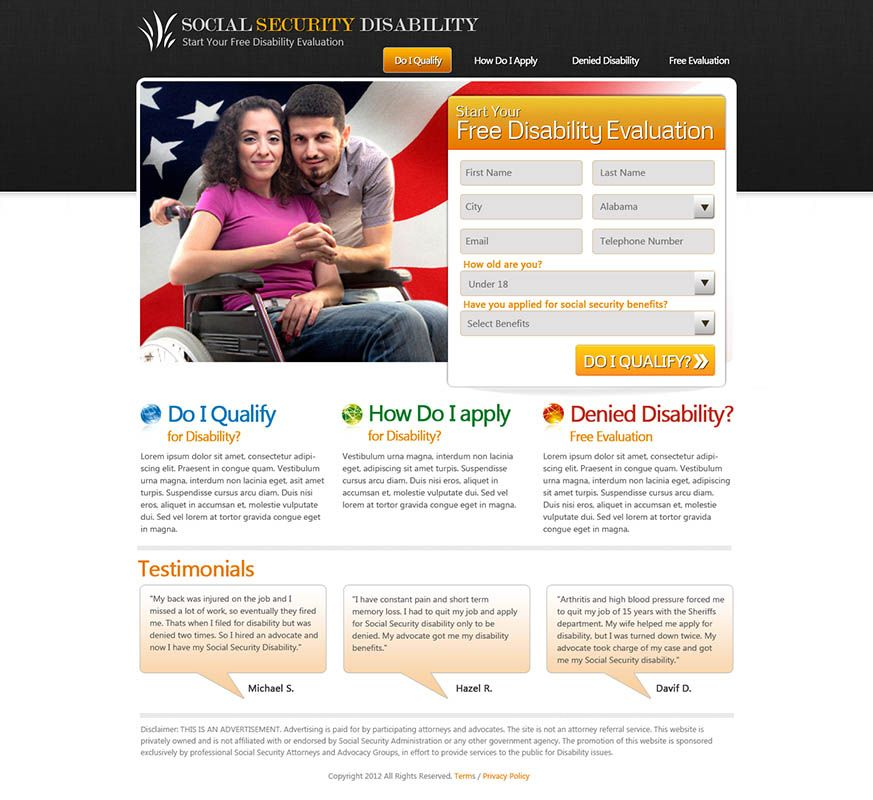 Social Security Disability Website With Images Renters