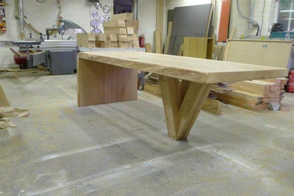 Houten tafel maken tafels eiken tafel tuintafels