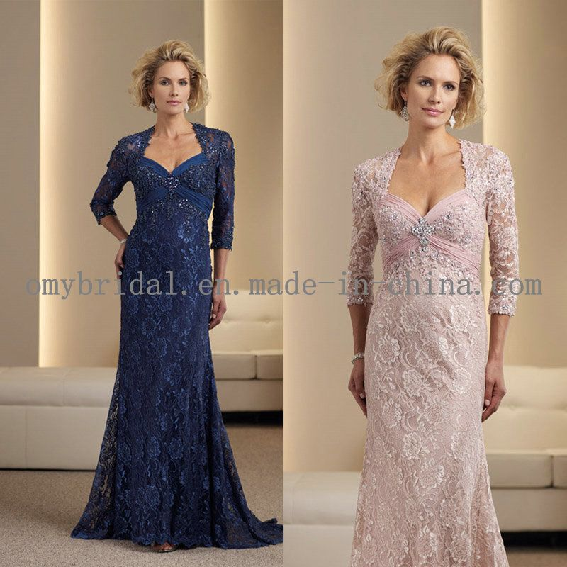 Mother of the bride dresses lace sleeves