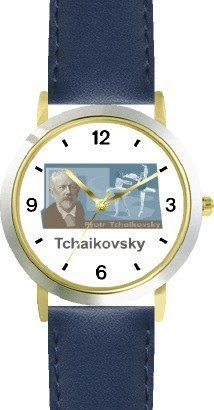 Peter Tchaikovsky 1 Musician - Music Composer - WATCHBUDDY® DELUXE TWO-TONE THEME WATCH - Arabic Numbers - Blue Leather Strap-Size-Children's Size-Small ( Boy's Size & Girl's Size ) WatchBuddy. $49.95. Save 38%!