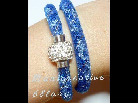Tutorial Elisir Bijoux - bracciali con rete tubolare - tubular net  bracelet - YouTube